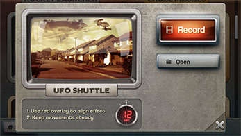 FxGuru App - UFO Shuttle Effect Open Screen
