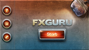 FxGuru App - Start Screen